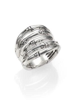 Bamboo Sterling Silver Wide Ring