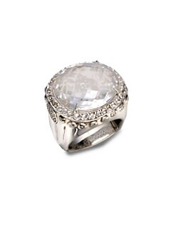 John Hardy - White Topaz & Sterling Silver Dome Ring