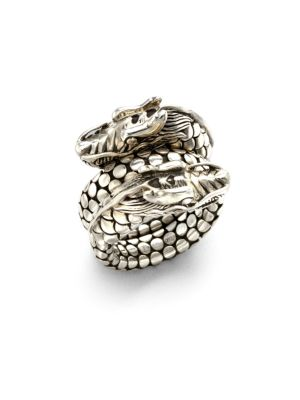Naga Sterling Silver Dragon Dot Coil Ring