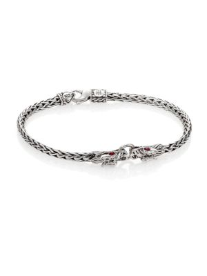 Naga Ruby & Sterling Silver Classic Chain Bracelet