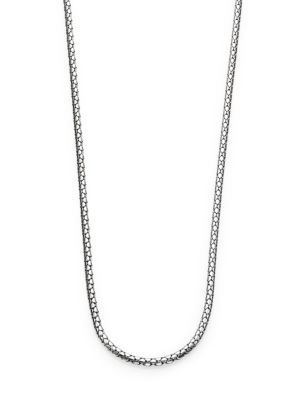 Dot Sterling Silver Small Chain Necklace