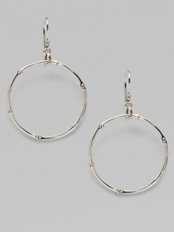 John Hardy - Sterling Silver Circle Earrings