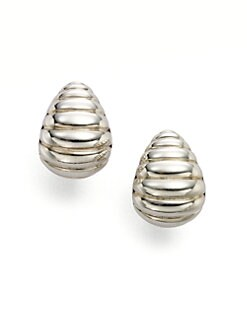 John Hardy - Sterling Silver Ribbed Earrings