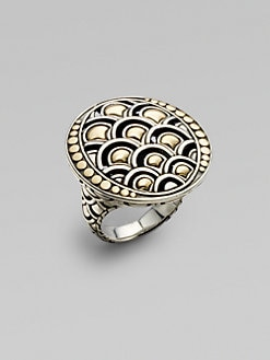 John Hardy - 18K Yellow Gold and Sterling Silver Ring