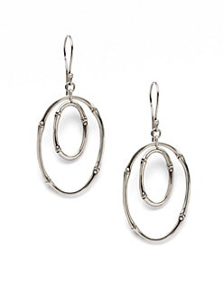 John Hardy - Sterling Silver Oval Drop Earrings
