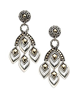 John Hardy - 18K Yellow Gold & Sterling Silver Chandelier Earrings