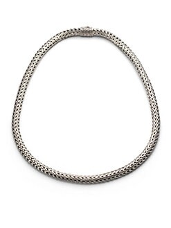 John Hardy - Sterling Silver Woven Necklace/16