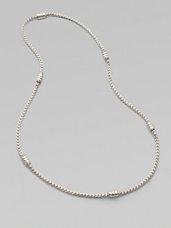 John Hardy - Sterling Silver Woven Chain Necklace