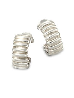 John Hardy - Sterling Silver Textured Hoop Earrings
