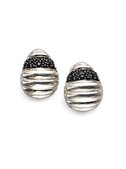 John Hardy - Black Sapphire Sterling Silver Earrings