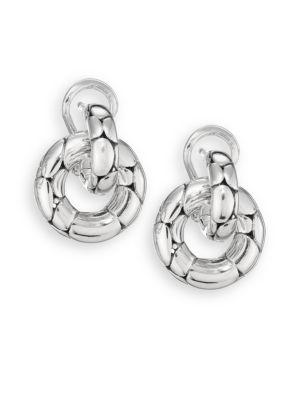 Kali Sterling Silver Small Doorknocker Earrings