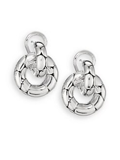 John Hardy - Sterling Silver Doorknocker Earrings