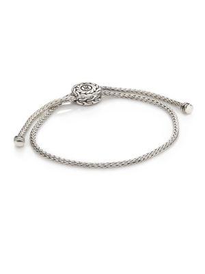 Classic Chain Sterling Silver Knot Slide Bracelet