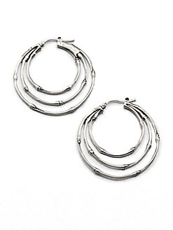 John Hardy - Sterling Silver Triple Hoop Earrings