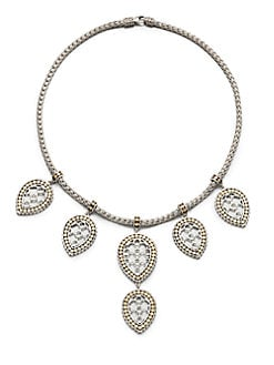 John Hardy - Sterling Silver & 18K Gold Fringe Bib Necklace