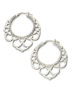 John Hardy - Sterling Silver Openwork Hoop Earrings