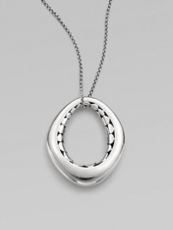 John Hardy - Sterling Silver Oval Pendant Necklace