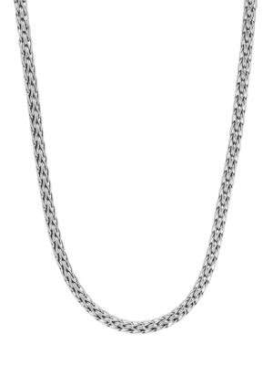 """Classic Chain Sterling Silver Slim Necklace/16"""""""