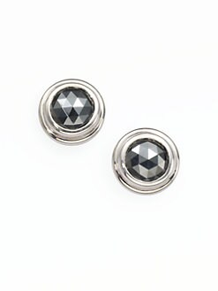 John Hardy - Sterling Silver Stud Earrings/Hematite