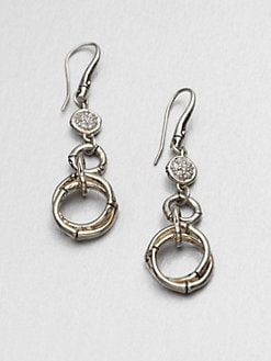 John Hardy - White Sapphire and Sterling Silver Drop Earrings