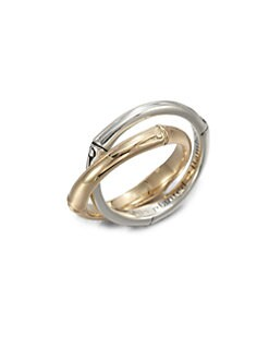 John Hardy - 18K Gold & Sterling Silver Interlocking Rings