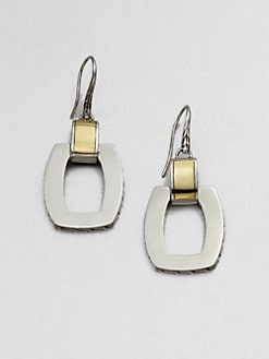 John Hardy - Sterling Silver and 22K Yellow Gold Doorknocker Earrings