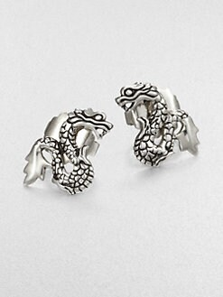 John Hardy - Sterling Silver Dragon Stud Earrings
