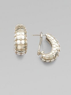 John Hardy - Sterling Silver Buddha Belly Earrings
