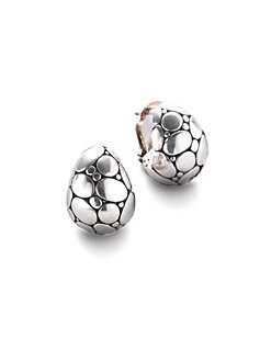 John Hardy - Kali Sterling Silver Buddha Belly Earrings