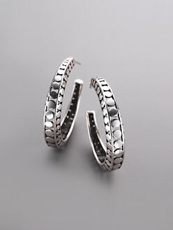 John Hardy - Sterling Silver Dot Hoop Earrings/1&frac14