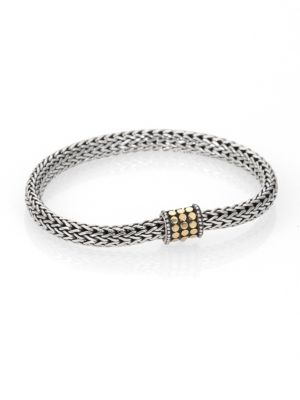 Dot 18K Yellow Gold & Sterling Silver Chain Bracelet