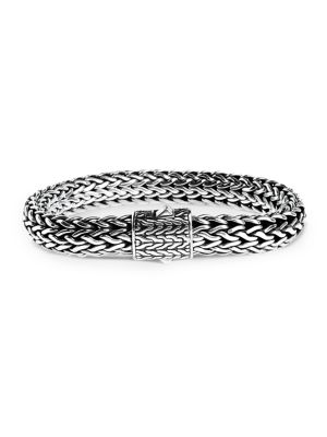 Classic Chain Sterling Silver Large Bracelet