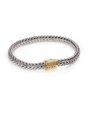 Classic Chain 18K Yellow Gold & Sterling Silver Bracelet