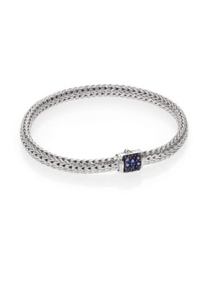 Classic Chain Sapphire & Sterling Silver Extra-Small Bracelet