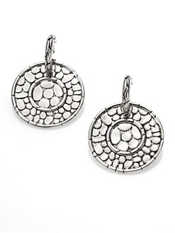 John Hardy - Sterling Silver Disc Drop Earrings