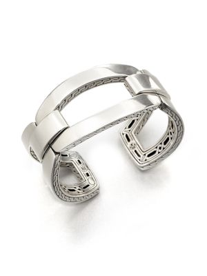 Classic Chain Sterling Silver Link Cuff Bracelet