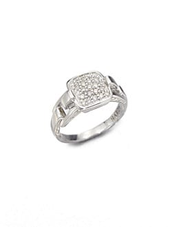 John Hardy - Pave Diamond Ring/Small