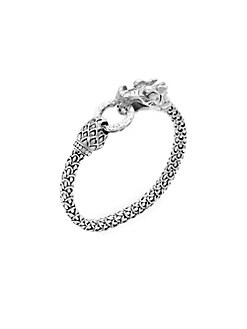 John Hardy - Diamond Sterling Silver Dragon Bracelet