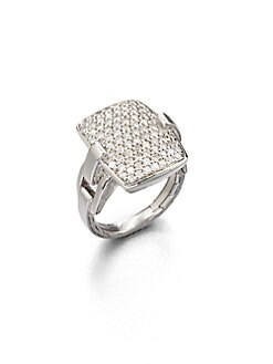 John Hardy - Pave Diamond Ring/Large
