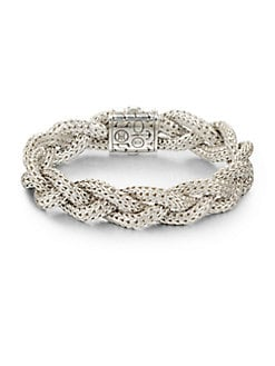John Hardy - Sterling Silver Braided Chain Bracelet/Medium