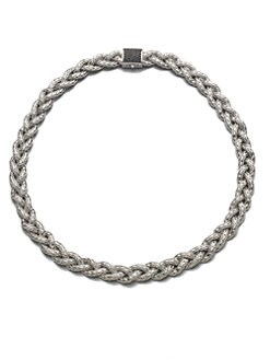 John Hardy - Black Sapphire Braided Chain Necklace