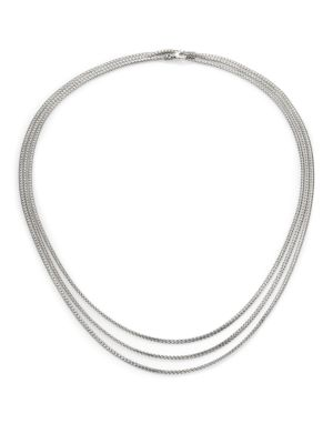 Classic Chain Sterling Silver Mini Multi-Strand Necklace