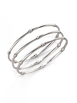 John Hardy - Set of Three Sterling Silver Bracelets