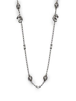 John Hardy - Sterling Silver Dragon Station Necklace