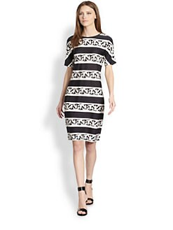 Diane von Furstenberg - Breanna Silk Chain & Stripe-Print Dress