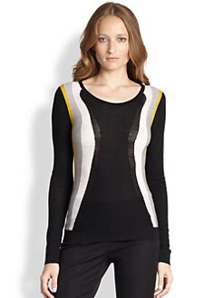 Diane von Furstenberg - Abstract Wool Intarsia Sweater
