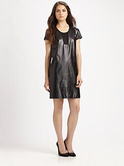 Diane von Furstenberg - Medya Leather Dress