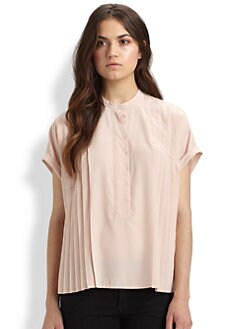 Diane von Furstenberg - Hadley Pleated Silk Blouse