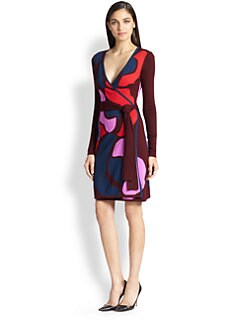 Diane von Furstenberg - Linda Printed Wool Wrap Dress