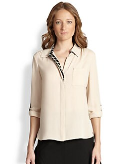 Diane von Furstenberg - Lorelei Two Trimmed Silk Shirt